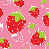 Fresh Strawberry Fruit pattern or background: pink & red