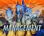 Business management leadership abstract
