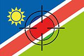 Sniper Scope on the flag of Namibia