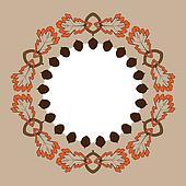Autumn Oak and Acorn frame