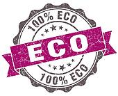 Eco violet grunge retro vintage isolated seal
