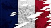 France Flag lacerate texture