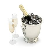 Set  of champagne with glasses.