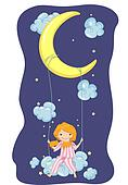 Girl Moon Swing