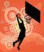 Basketball player - vector