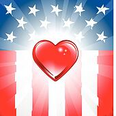 Patriotic Heart Background