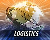 America logistics management concept