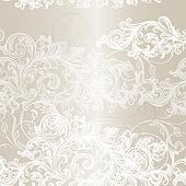Elegant seamless floral pattern background with ornament
