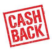 Cash back stamp in red