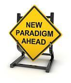 Road sign - new paradigm