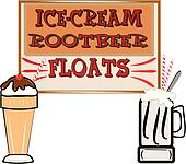rootbeer floats and ice cream