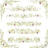 wine scroll ornament