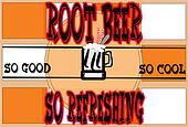 root beer poster background