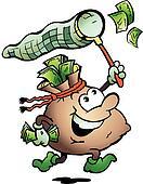 Money Sack Hunting Cash