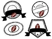 empty stamps, american football theme