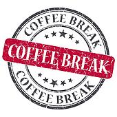 Coffee break red round grungy stamp isolated on white background