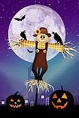 scarecrow of Halloween