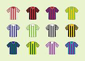 Stripes jersey set