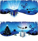 blue christmas headers