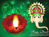 Deepawali Background with ganesha g