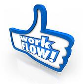 Workflow Thumb Up Like Sign Symbol Better Working Process System