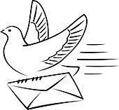 Pigeon Clip Art - Royalty Free - GoGraph