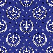 Blue royal seamless textile pattern