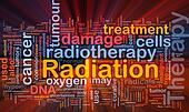 Radiation therapy background concept glowing
