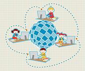Global social school network communication