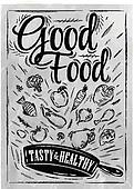 Poster good food coal