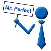 Mr Perfect Signboard Blue