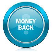 money back blue icon