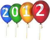 Happy New 2012 Year balloons