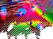 Paint Color Indicates Splashed Splatter And Splashing