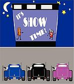 show time at drive in