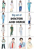 Big set of Medical doctors and nur