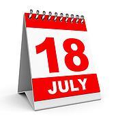 Calendar. 18 July.