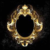 Oval gold frame