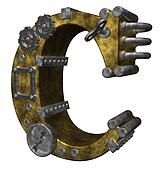 steampunk letter c