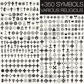 350 symbols vector various religio