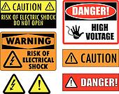 Safety electrical signs
