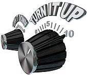 Turn It Up - Dial Knob Turning Up to Max Volume Level
