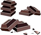 vector chocolate bars