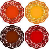 Retro Lace Doily Place Mats