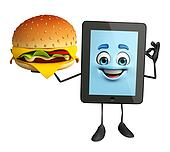 Tab Character with burger