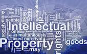 Intellectual property background concept