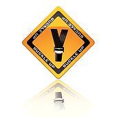 Seat belt warning sign