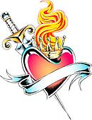 royal crown heart tattoo