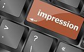 impression word on computer pc keyboard key