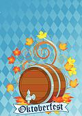 Oktoberfest design with keg